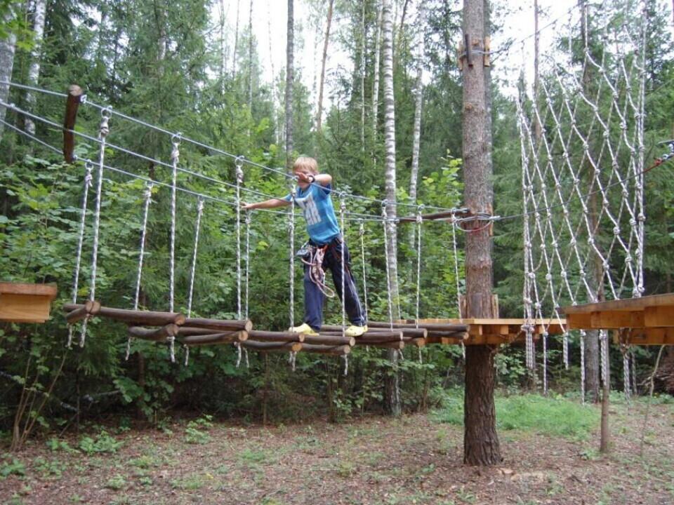 """Laipiojimas medžiuose """"Ąžuolynės"""" nuotykių parke"""