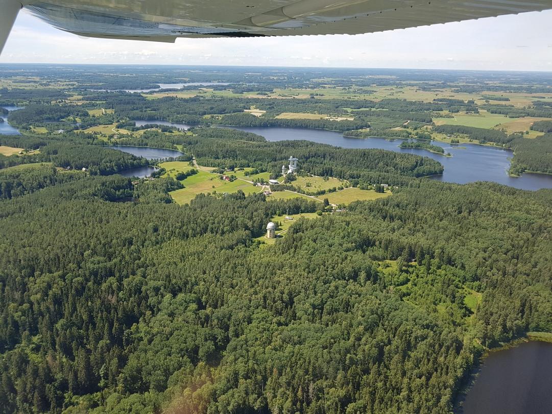 Skrydis virš Labanoro regioninio parko ežerų