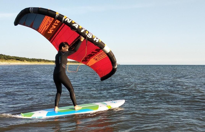 Wing surfer - tarp kaitavimo ir buriavimo!