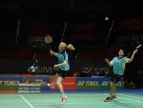 Badmintono žaidimas dviem