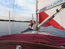 Plaukimas ir fotosesija jachtoje Trakuose
