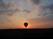 Skrydis oro balionu virš Kauno ir jo apylinkių