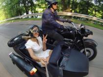 Pasivažinėjimas senoviniu motociklu lopšyje + fotosesija